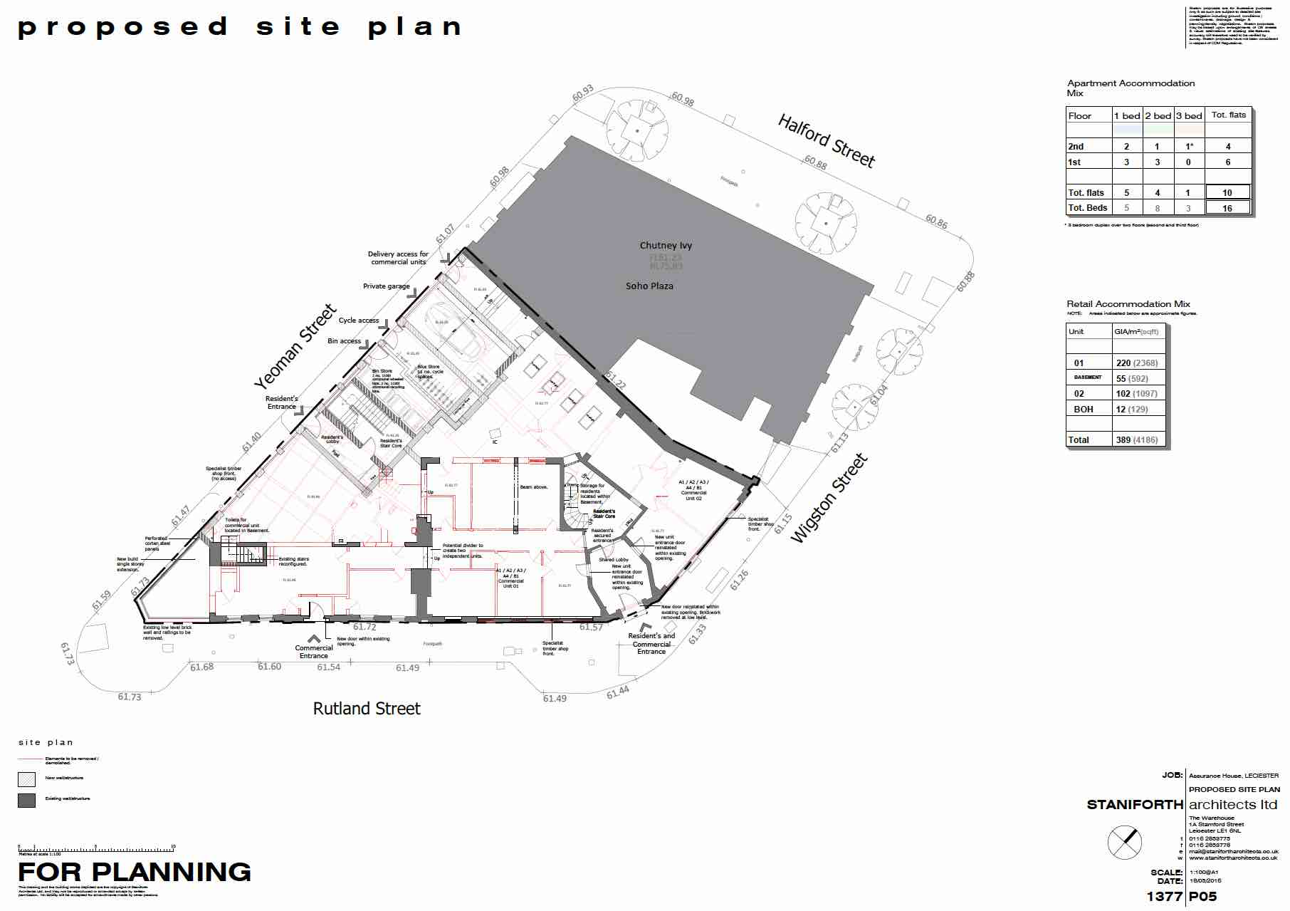 The Goliath Group development Proposed Site Plan